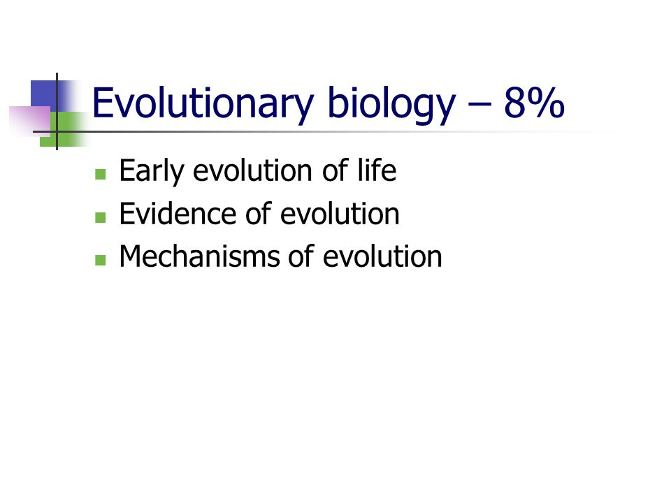 Evolutionary biology – 8%