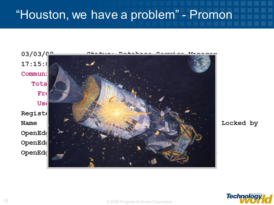 Houston, we have a problem - Promon