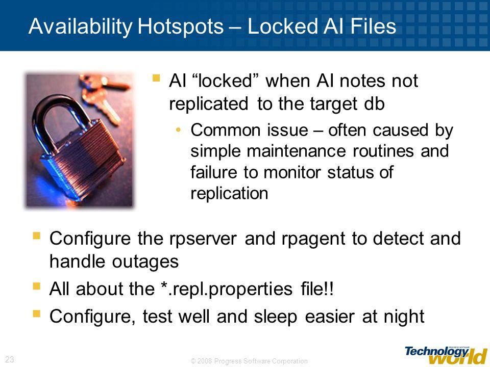 Availability Hotspots – Locked AI Files