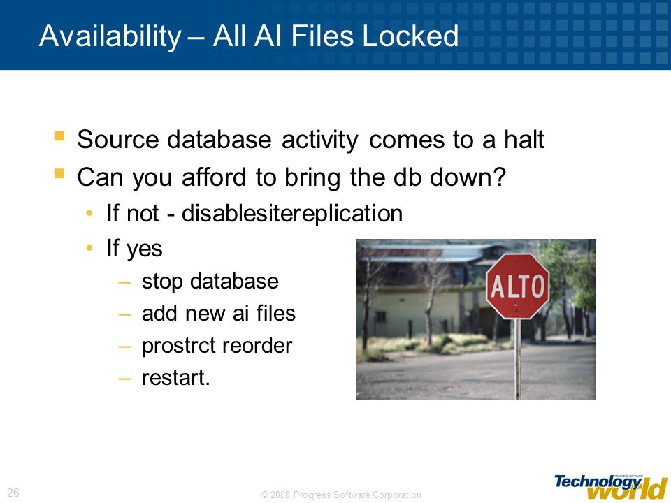 Availability – All AI Files Locked