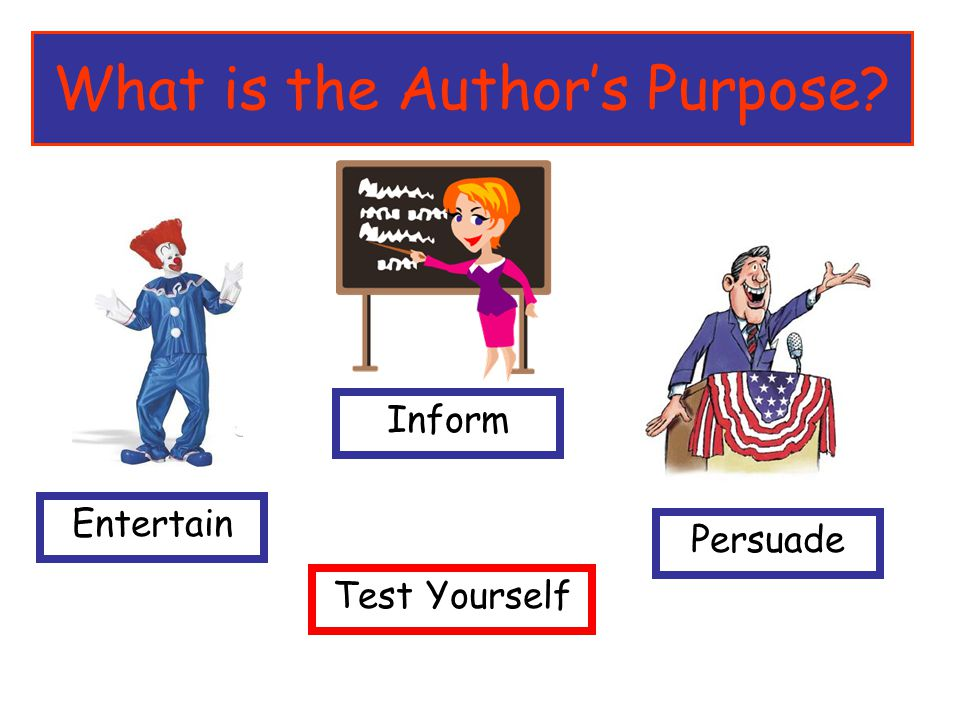 What is the Author's Purpose