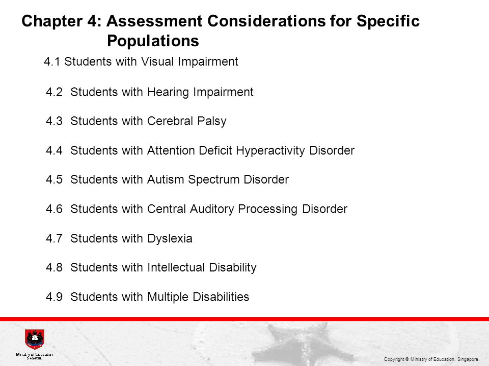 Chapter 4: Assessment Considerations for Specific Populations