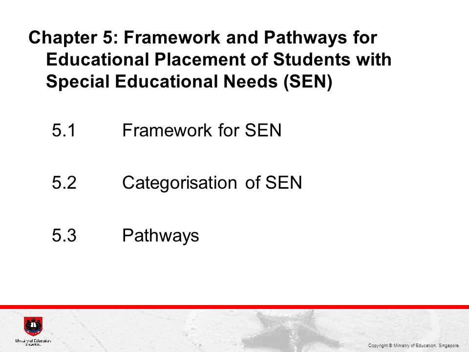Chapter 5: Framework and Pathways for Educational Placement of Students with Special Educational Needs (SEN)