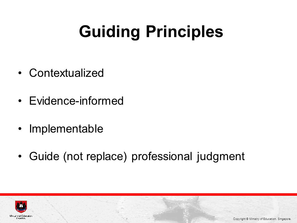 Guiding Principles Contextualized Evidence-informed Implementable