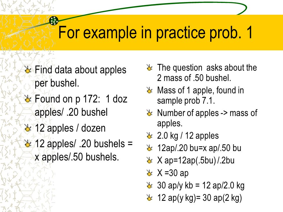 For example in practice prob. 1