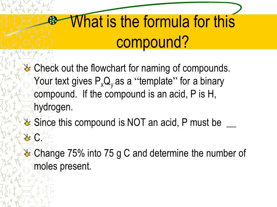 What is the formula for this compound