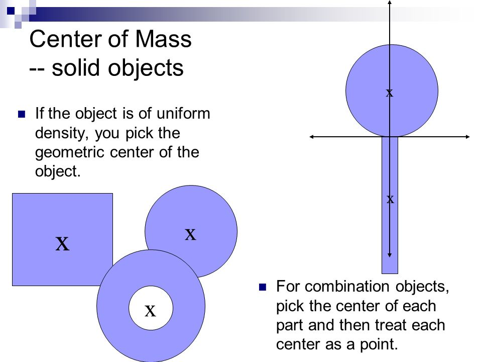 Center of Mass -- solid objects