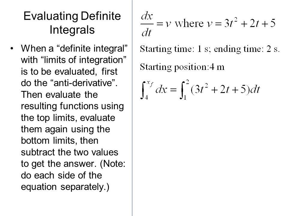 Evaluating Definite Integrals