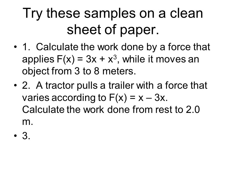 Try these samples on a clean sheet of paper.