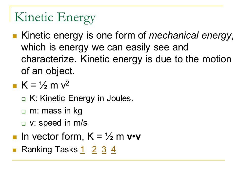 Physics C Energy 3/25/2017. Kinetic Energy.