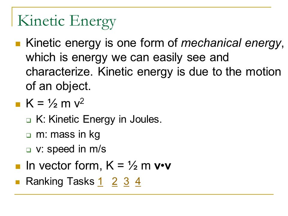 Physics C Energy3/25/2017. Kinetic Energy.