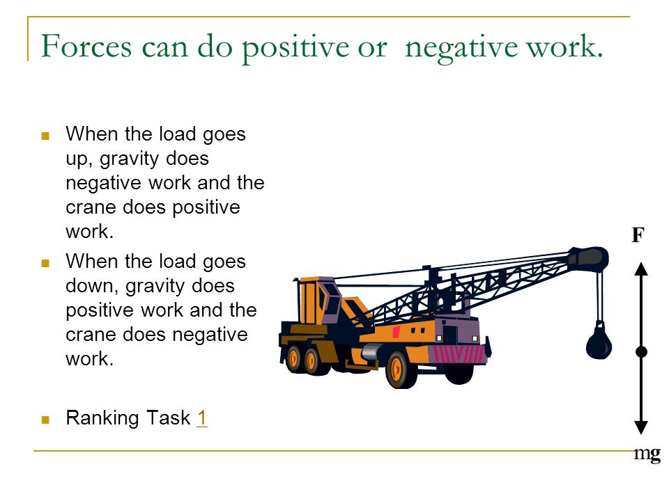 Forces can do positive or negative work.