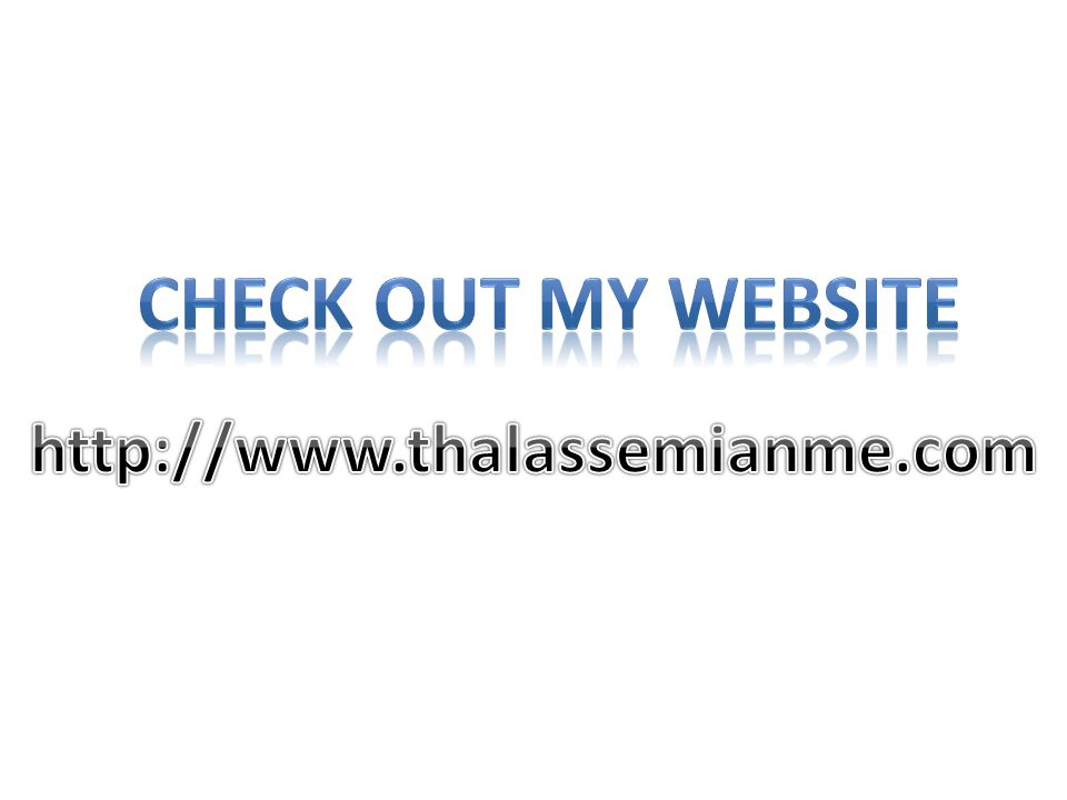 Check out my website http://www.thalassemianme.com