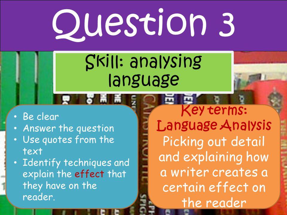 Key terms: Language Analysis