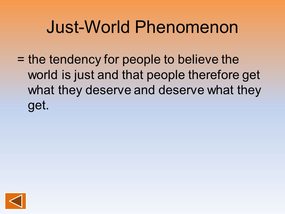 Just-World Phenomenon