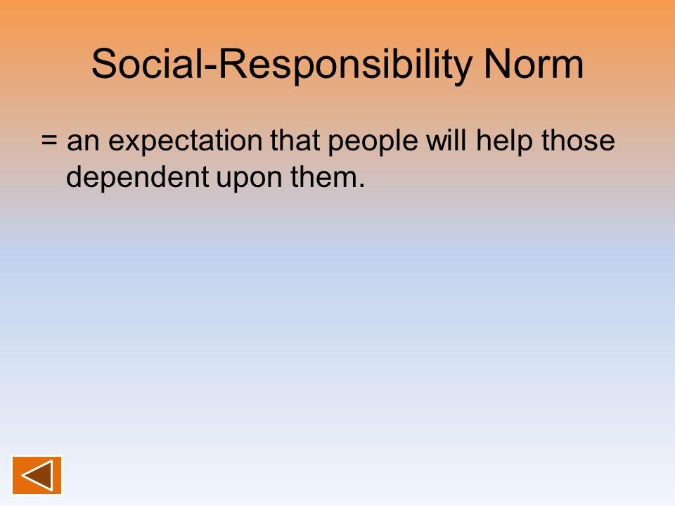 Social-Responsibility Norm
