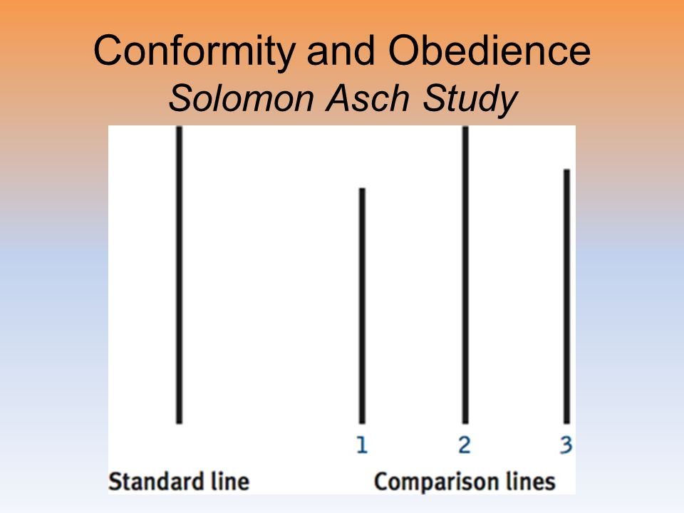 Conformity and Obedience Solomon Asch Study