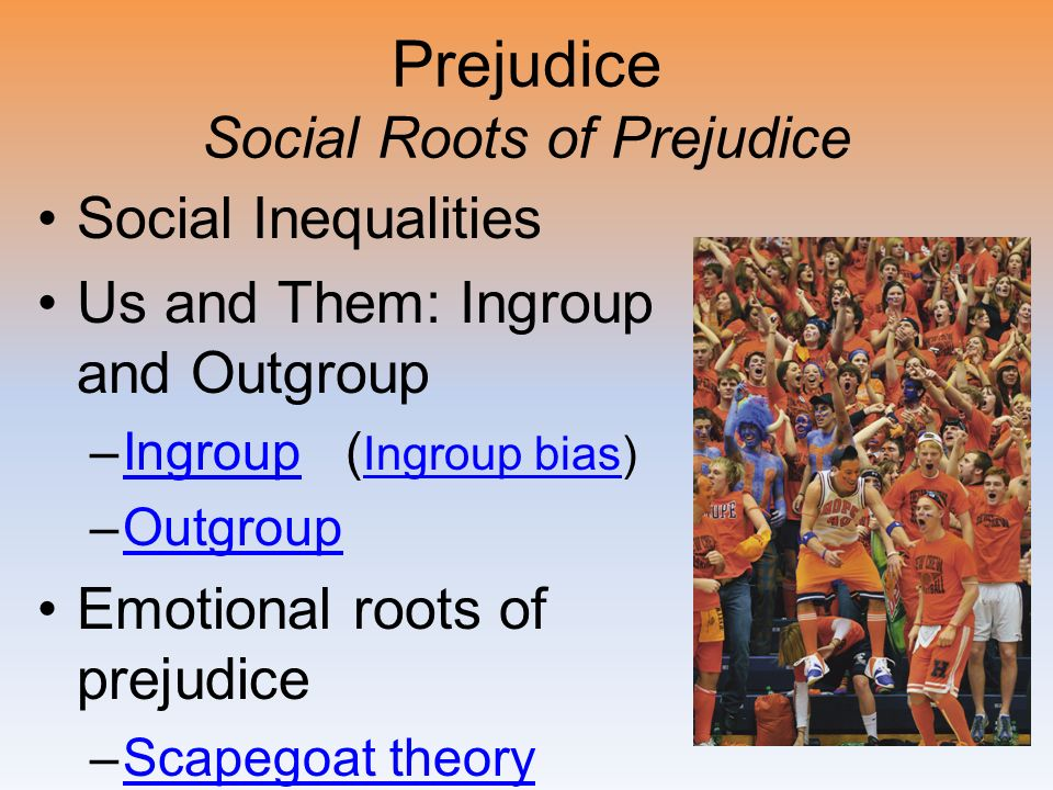 Prejudice Social Roots of Prejudice