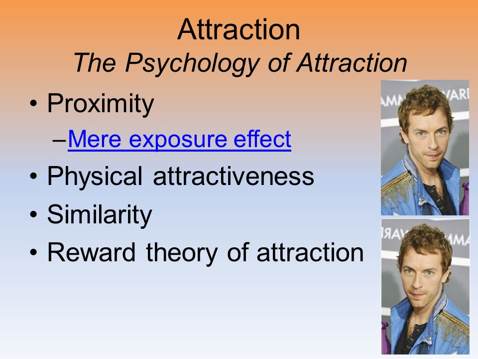 Attraction The Psychology of Attraction