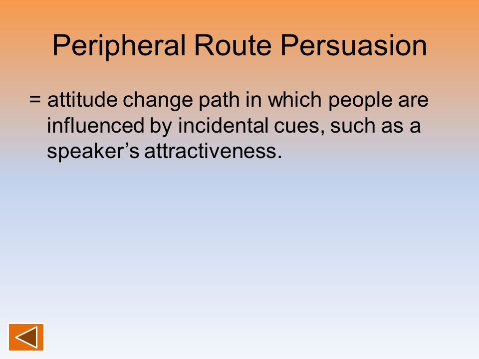 Peripheral Route Persuasion