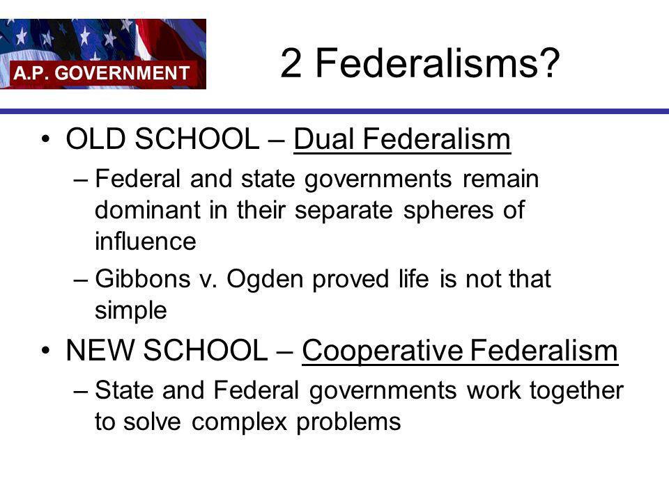 2 Federalisms OLD SCHOOL – Dual Federalism
