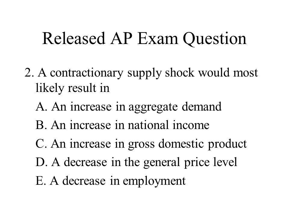 Released AP Exam Question