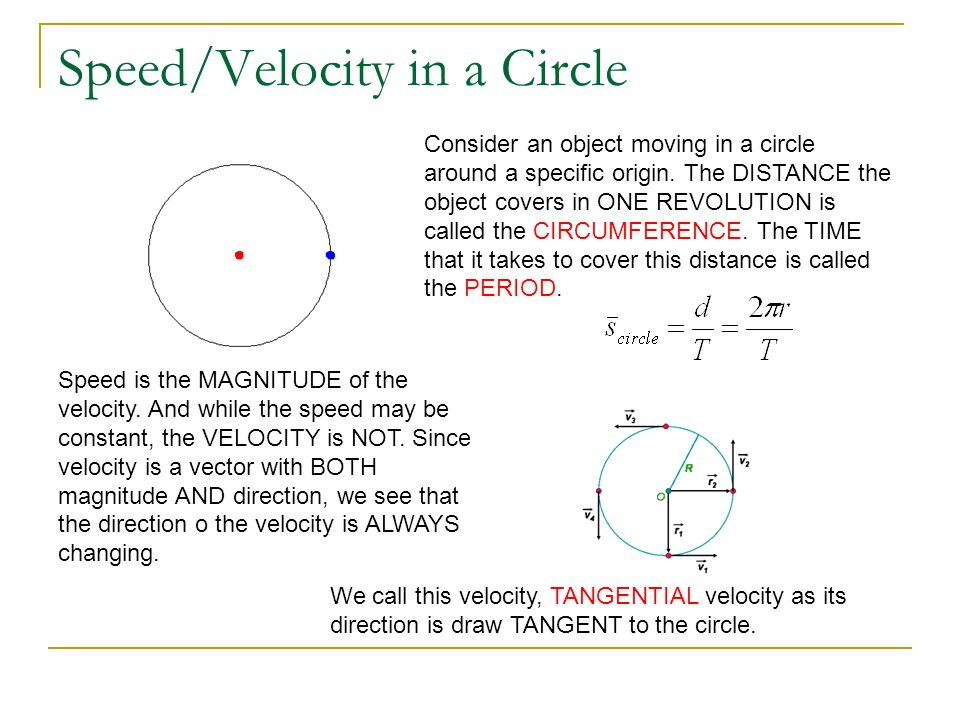 Speed/Velocity in a Circle