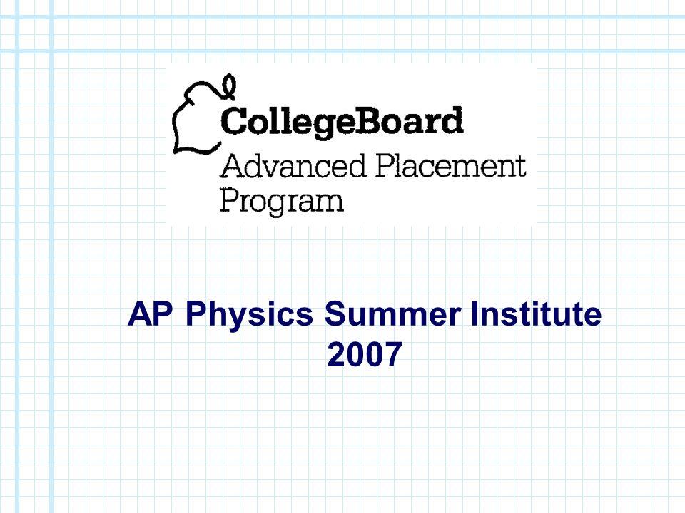 AP Physics Summer Institute 2007