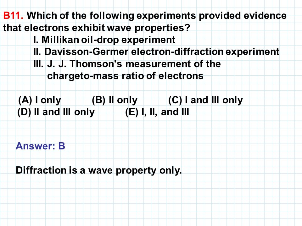 B11. Which of the following experiments provided evidence