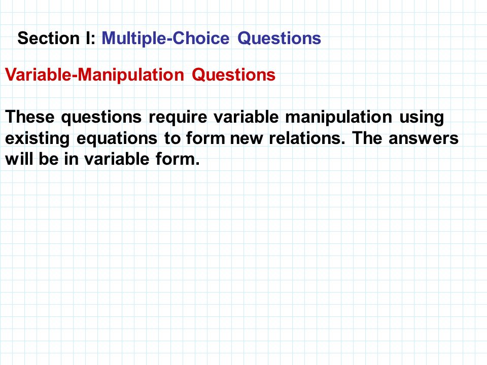 Section I: Multiple-Choice Questions