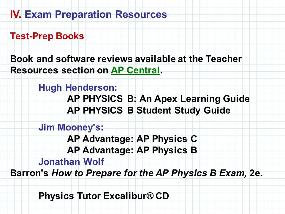 IV. Exam Preparation Resources