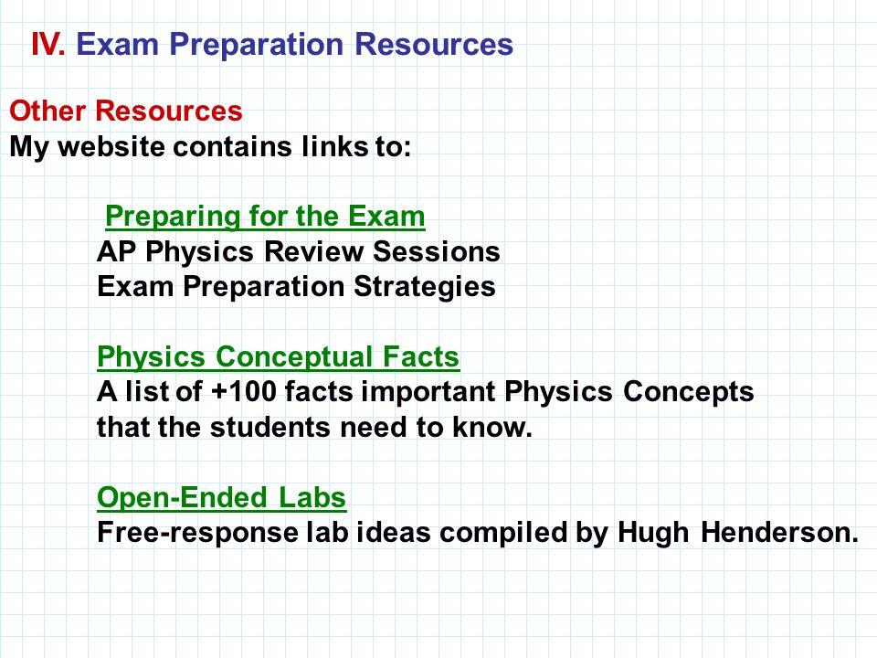 IV. Exam Preparation Resources