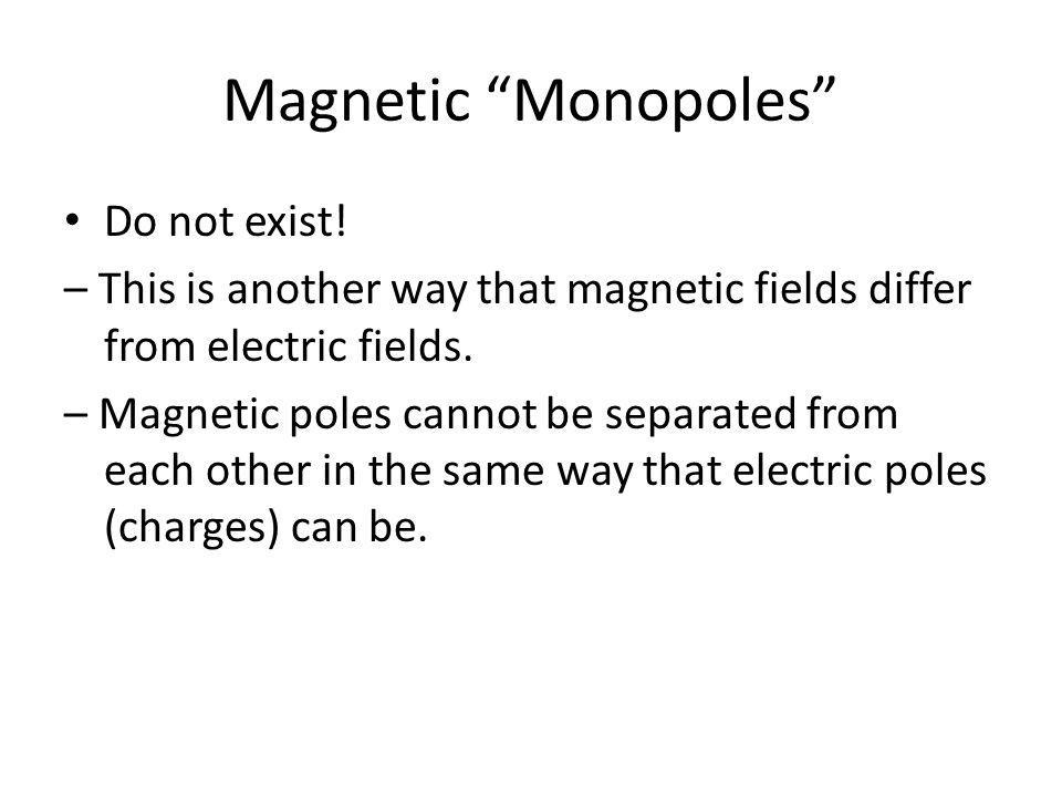 Magnetic Monopoles Do not exist!