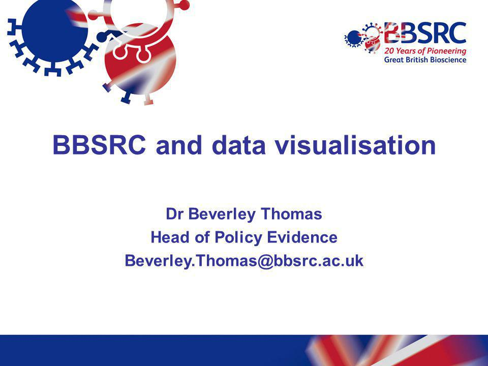 BBSRC and data visualisation Head of Policy Evidence