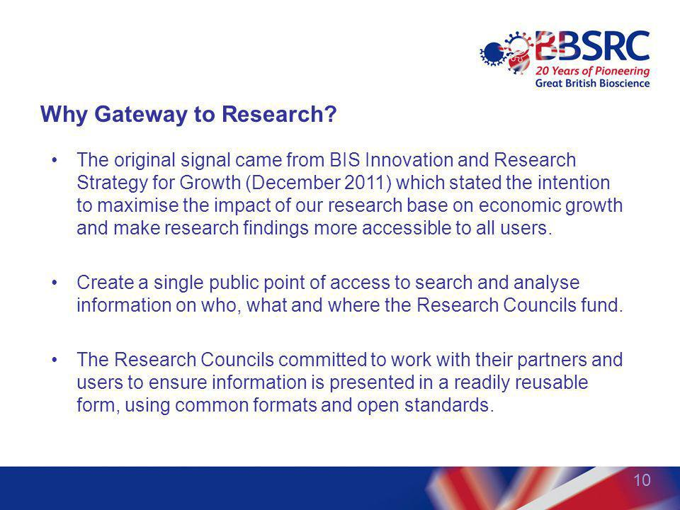 Why Gateway to Research