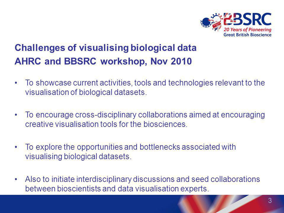 Challenges of visualising biological data