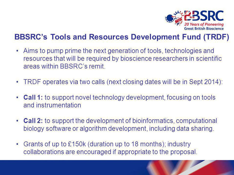 BBSRC's Tools and Resources Development Fund (TRDF)