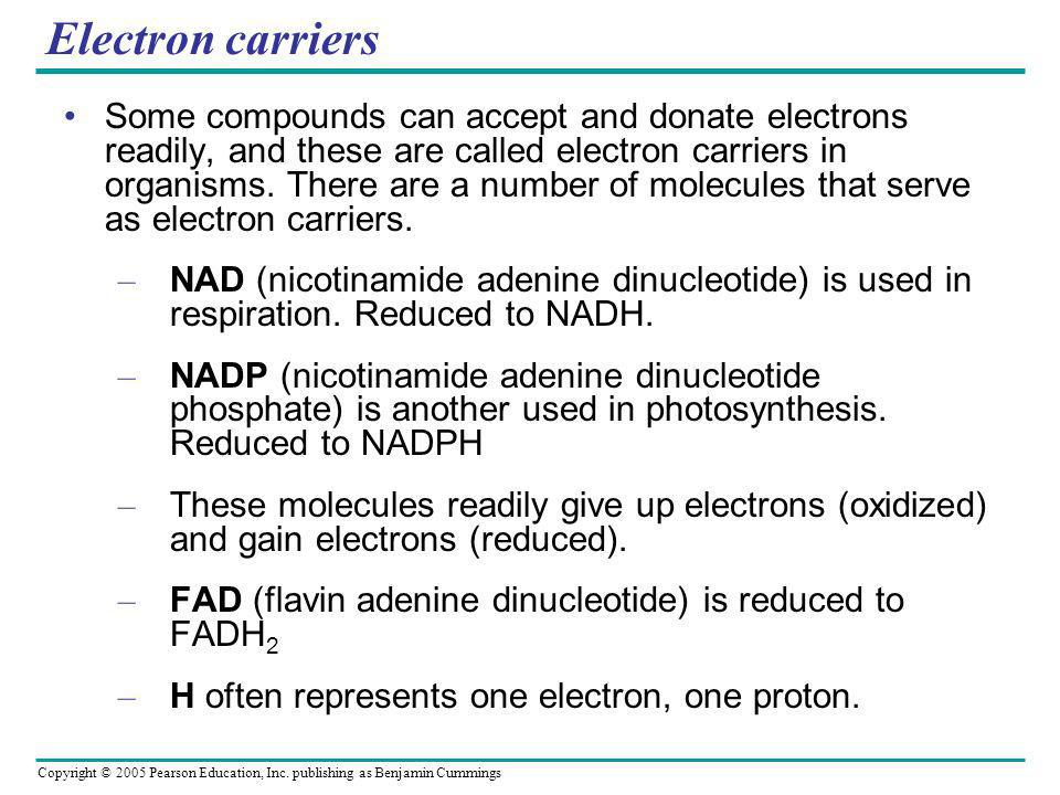 Electron carriers