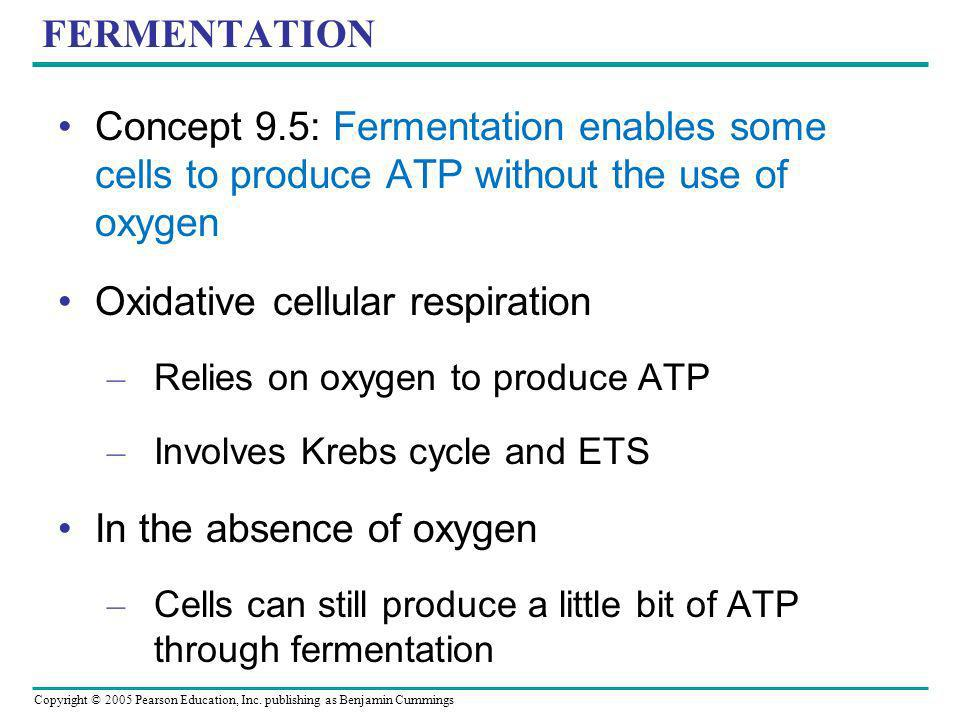 Oxidative cellular respiration