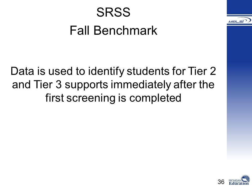 SRSS Fall Benchmark.