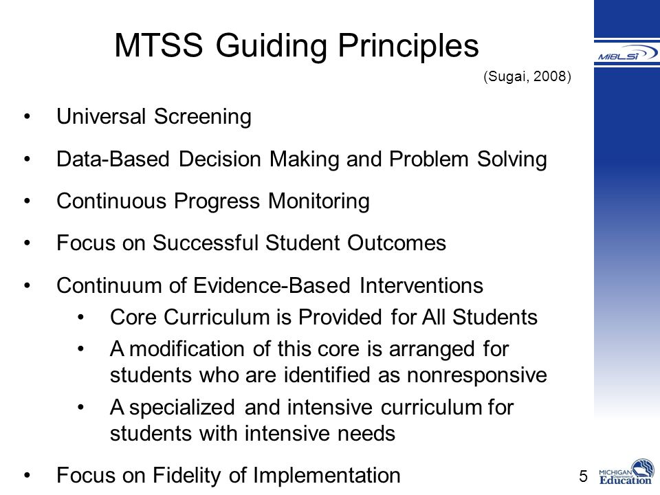 MTSS Guiding Principles