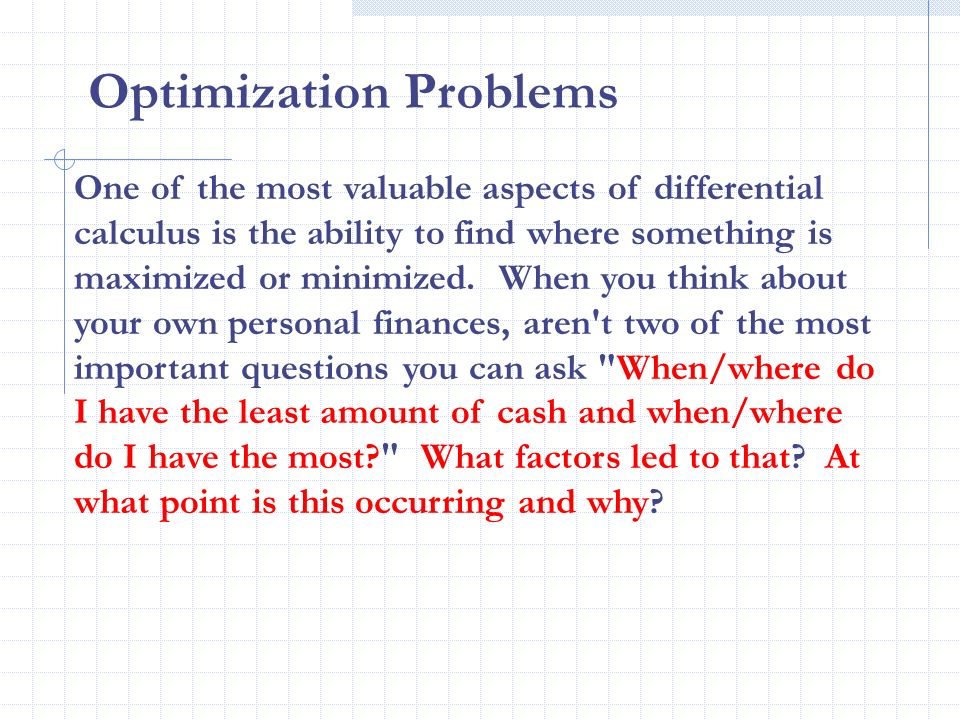 37 Optimization Problems Ppt Download