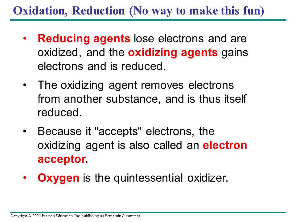 Oxidation, Reduction (No way to make this fun)