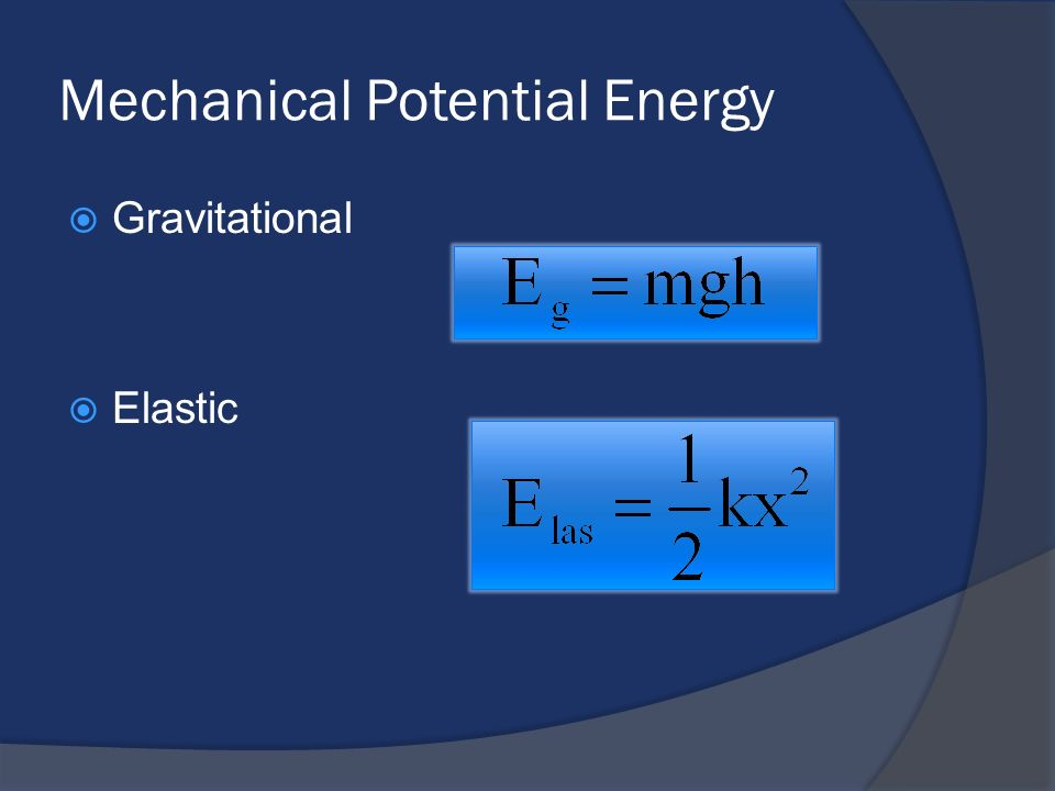 Mechanical Potential Energy