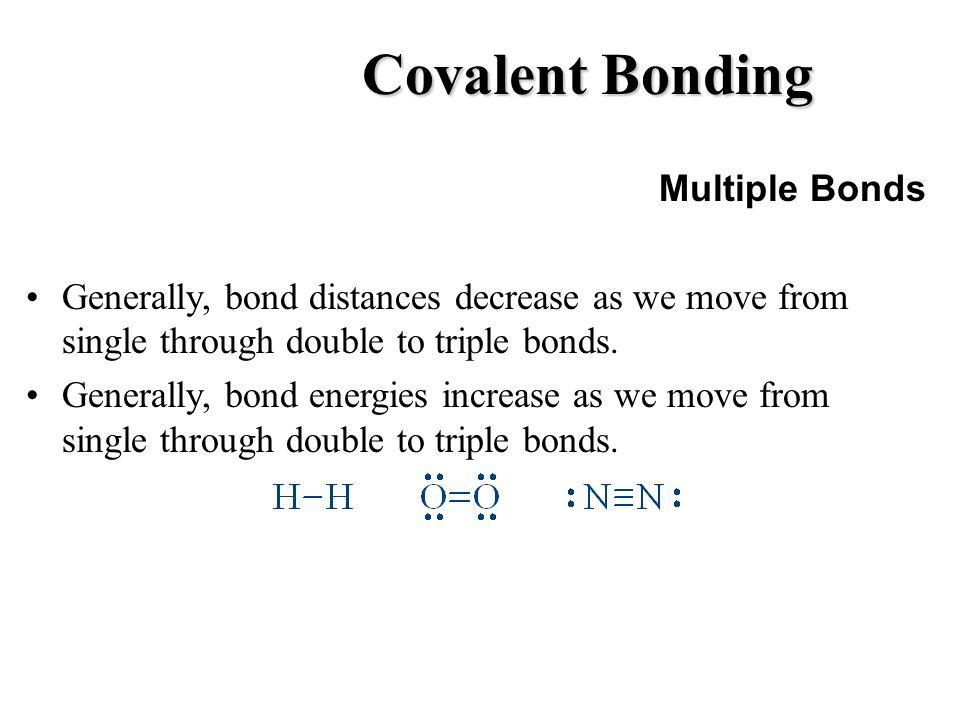 Covalent Bonding Multiple Bonds