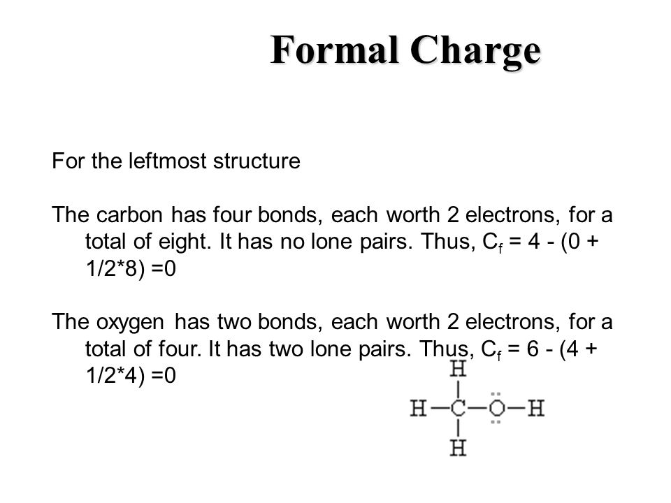 Formal Charge For the leftmost structure