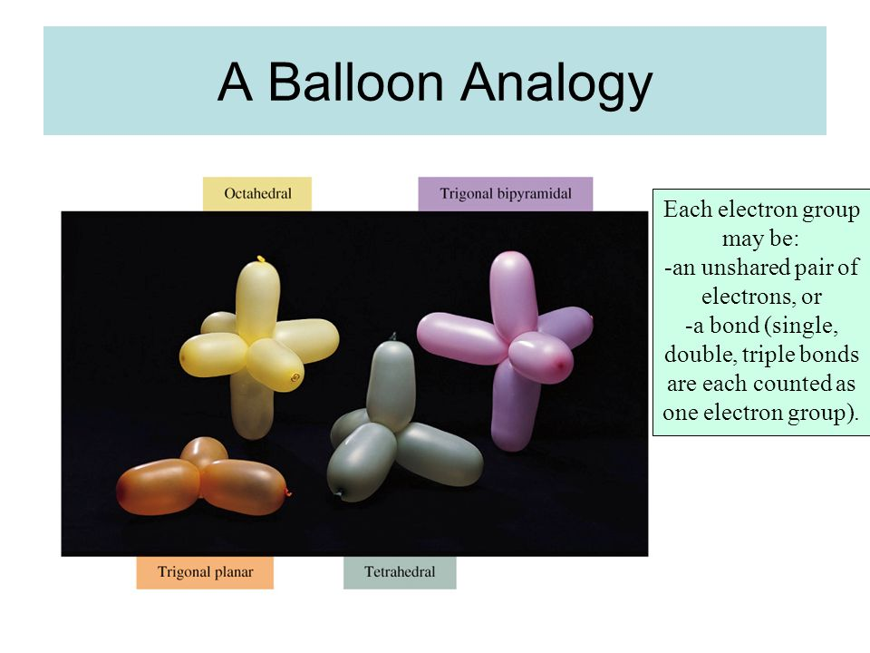 A Balloon Analogy Each electron group may be: