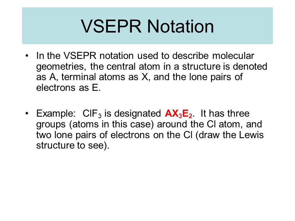 VSEPR Notation