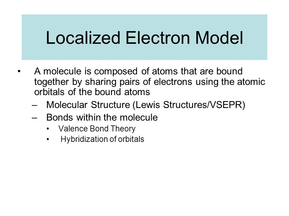Localized Electron Model