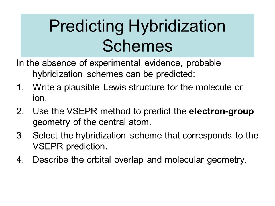 Predicting Hybridization Schemes